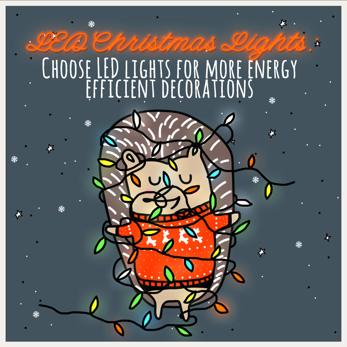 "Mindful Mintie Says ""Choose LED Lights for your Decorations"