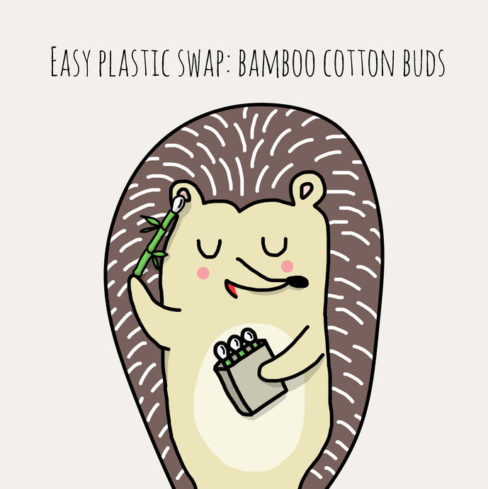 "Mindful Mintie says "" Swap your cotton bud for a bamboo bud.."""