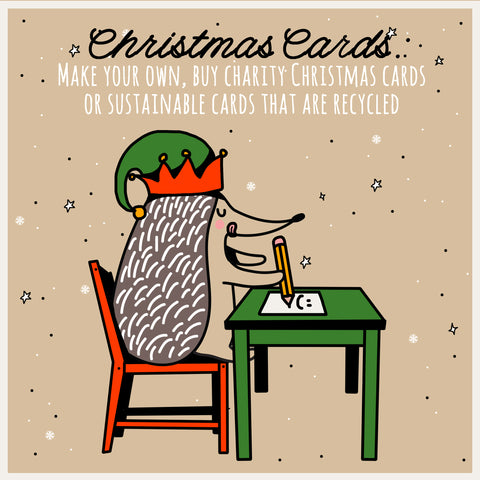 reduce reuse and recycle your christmas cards