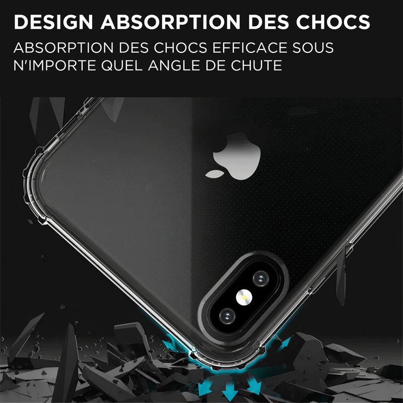 iPhone étui transparent anti-choc
