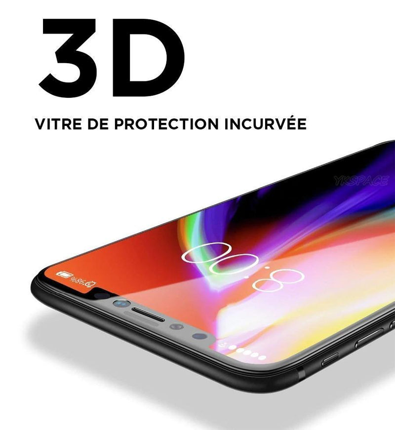 iPhone protection écran anti espionnage bords noirs incurvés