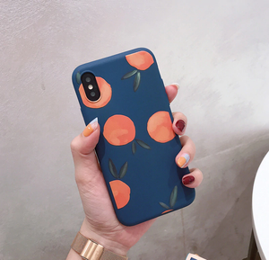 Coque souple iPhone oranges aquarelle