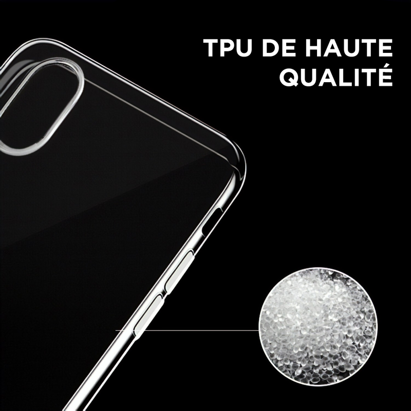 Étui iPhone ultra mince transparent