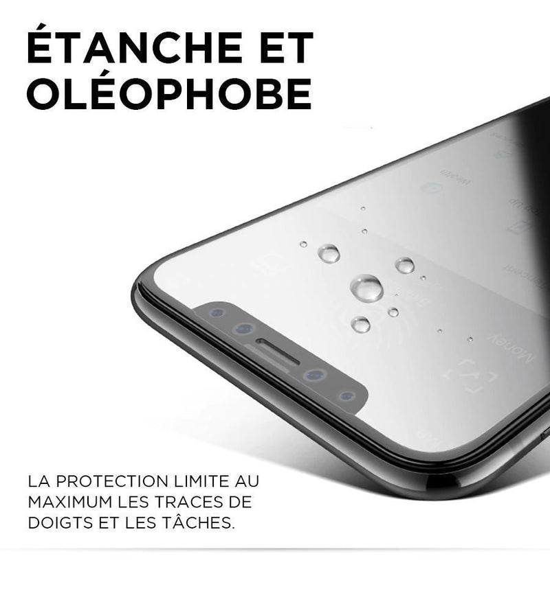protection d'écran waterproof verre trempé iPhone