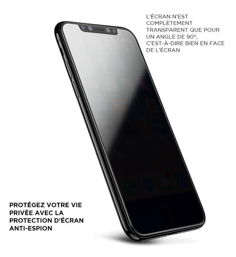 Protection d'écran iPhone teintée anti-espion