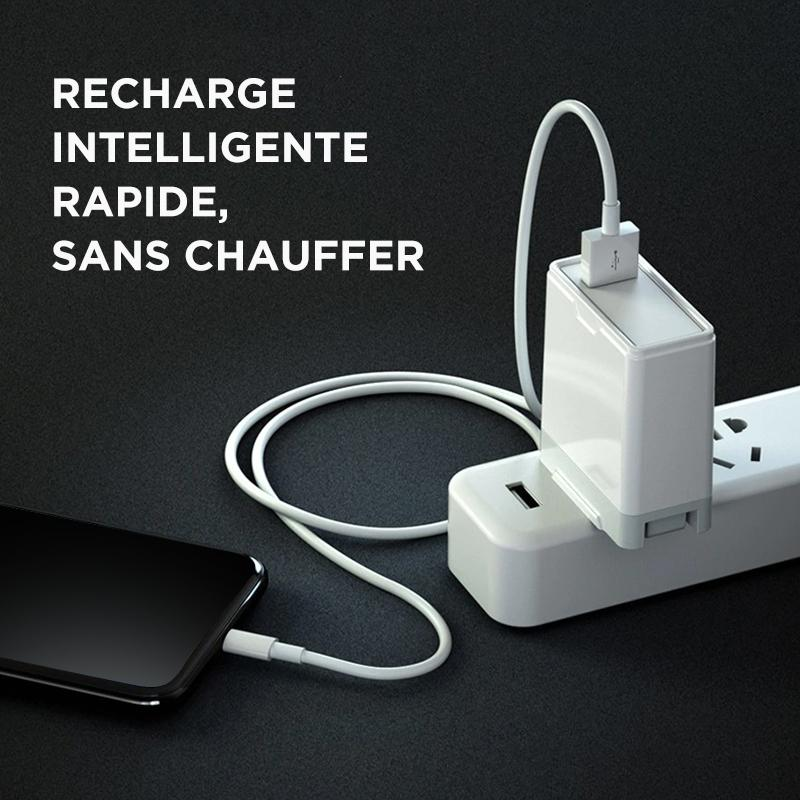 chargeur iphone blanc