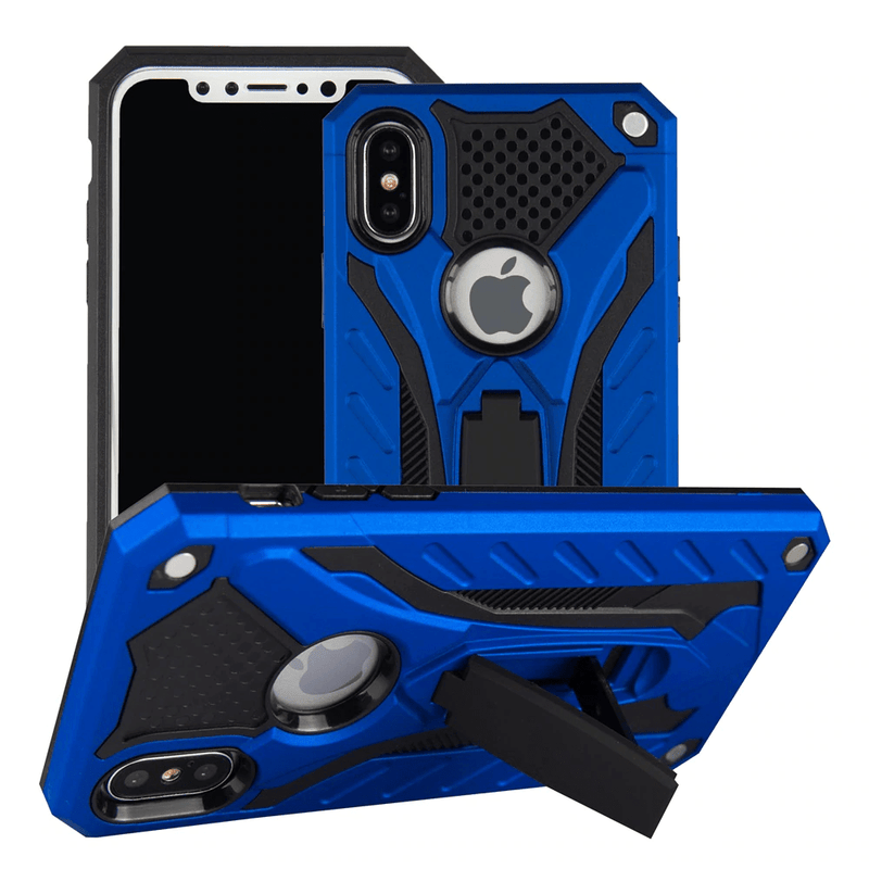 etui iphone militaire blinde chantier anti choc bleu