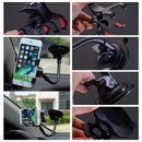 support iphone voiture bras flexible