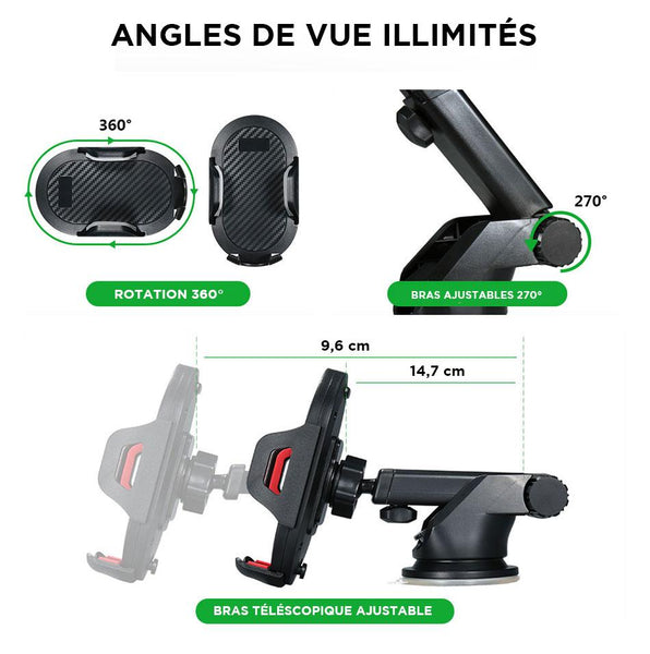 Support iPhone voiture bras ajustable