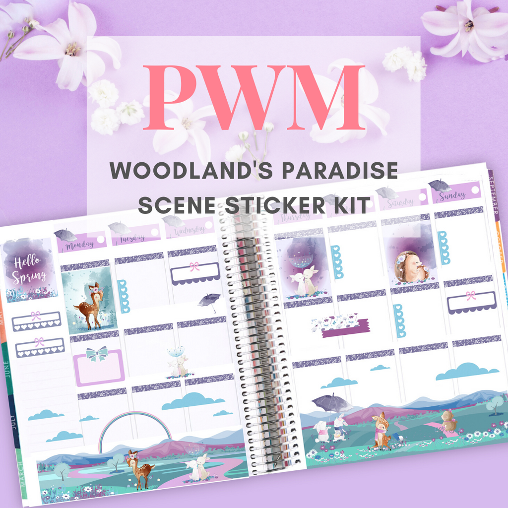 Woodland's Paradise Scene Sticker Kit PWM Tutorial