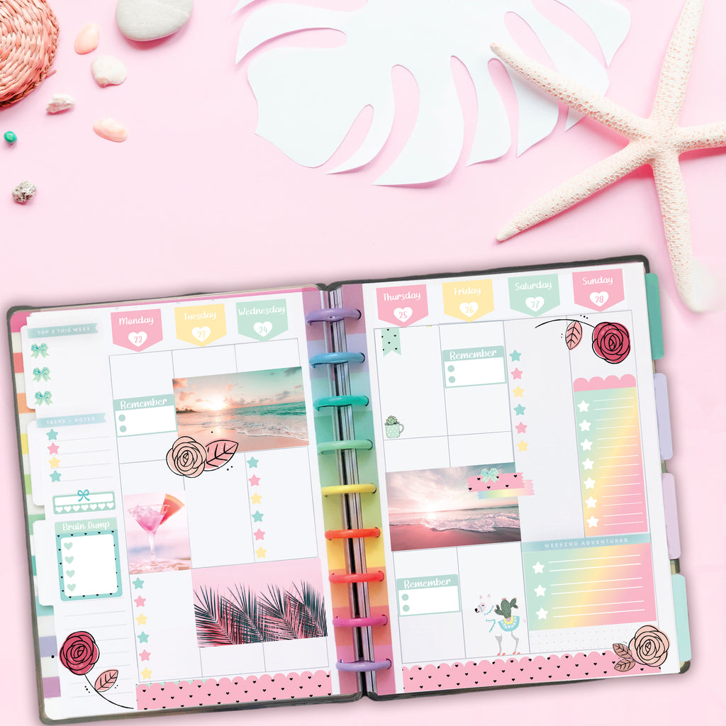 Rainbow Beach Happy Planner Spread (The Transition Begins)