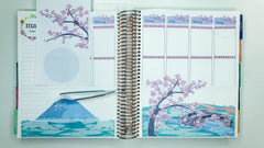 Cherry Blossom Bliss Scene Sticker Kit Laying the Moon & Mountain