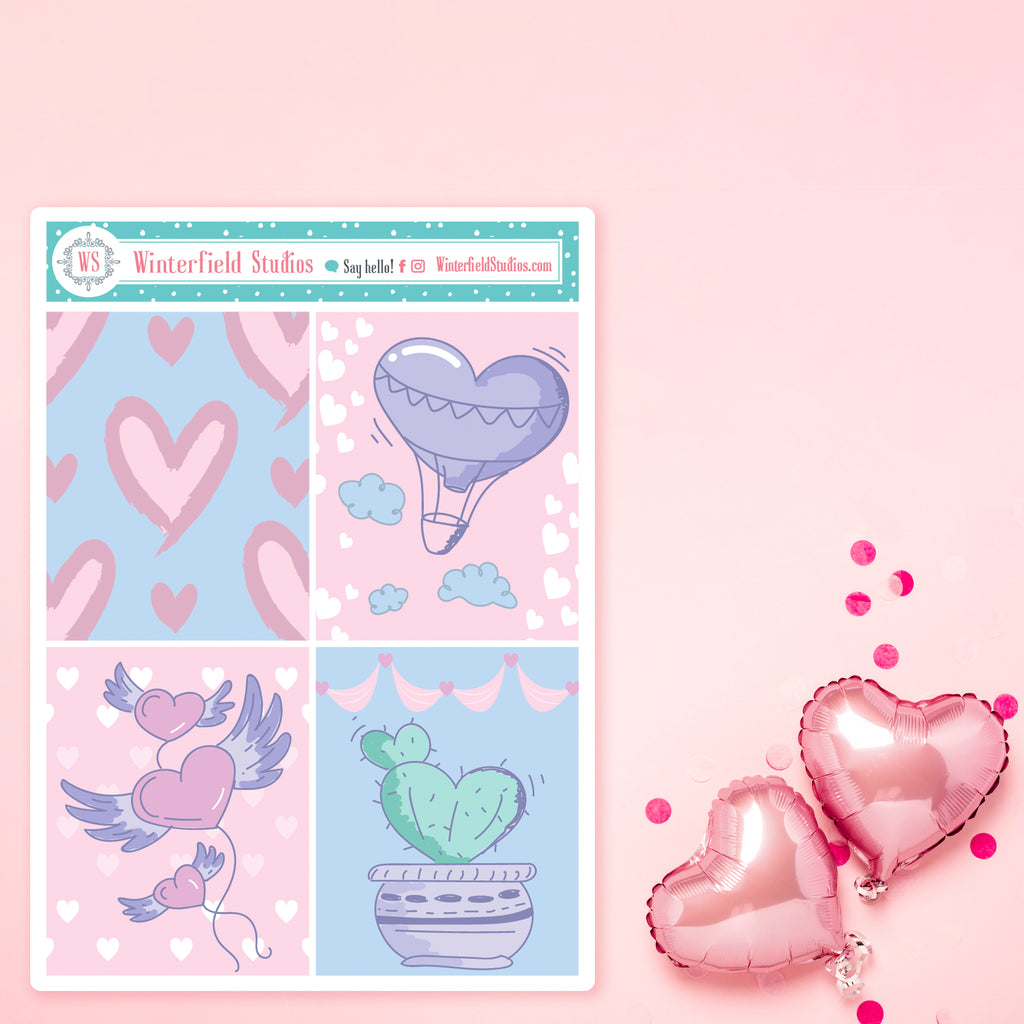 Valentine's Day Themed Full Box Sampler Stickers