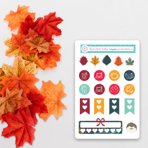 Fall Icon Sticker Sampler - Fits Vertical Planners