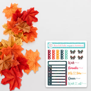 Functional Fall Sticker Sampler - Fits Vertical Planners