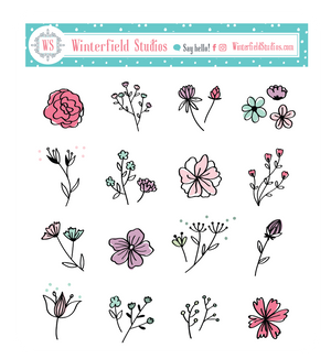 Made In Canada Spring Sale Floral Samplers - Fits Bullet Journal, Travelers Notebook, Happy Planner