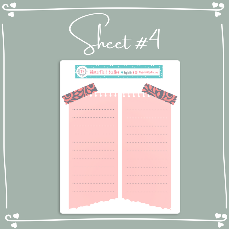 Secret Garden Layering Functional Stickers - Weekly Bullet Journal Sticker Kit