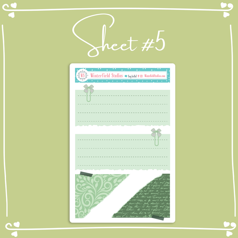Greenhouse Functional Layering Stickers - Bullet Journal Sticker Kit