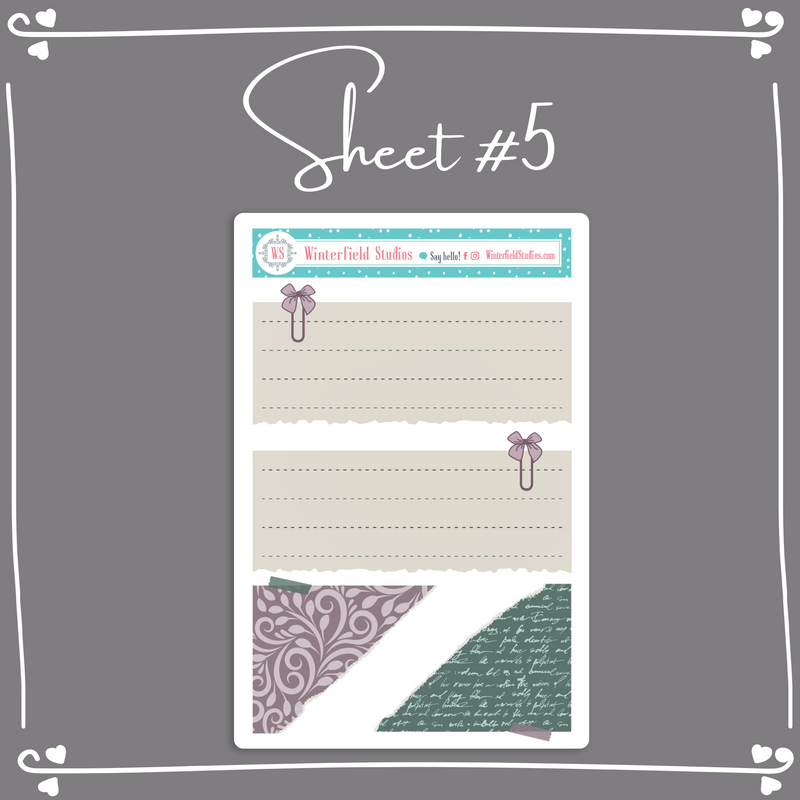 Retreat Functional Layering Stickers - Weekly Bullet Journal Sticker Kit