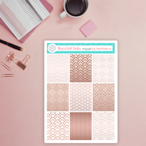 Rose Gold & Geometric Patterned Washi Tape - Fits All Planners