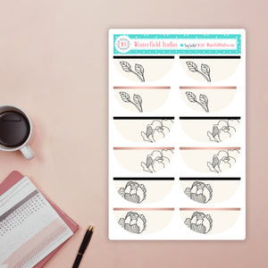 Mini Rose Gold Heart Icon Stickers - Heart Check List - Fits All Planners