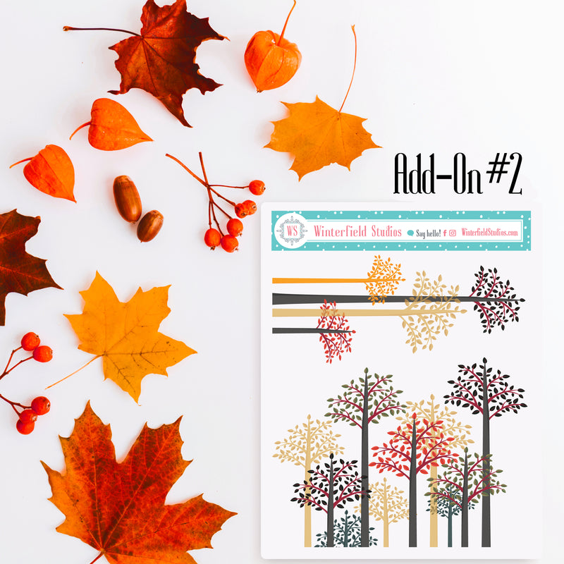Autumn Harvest Monthly Sticker Kit - Fits Vertical Planners