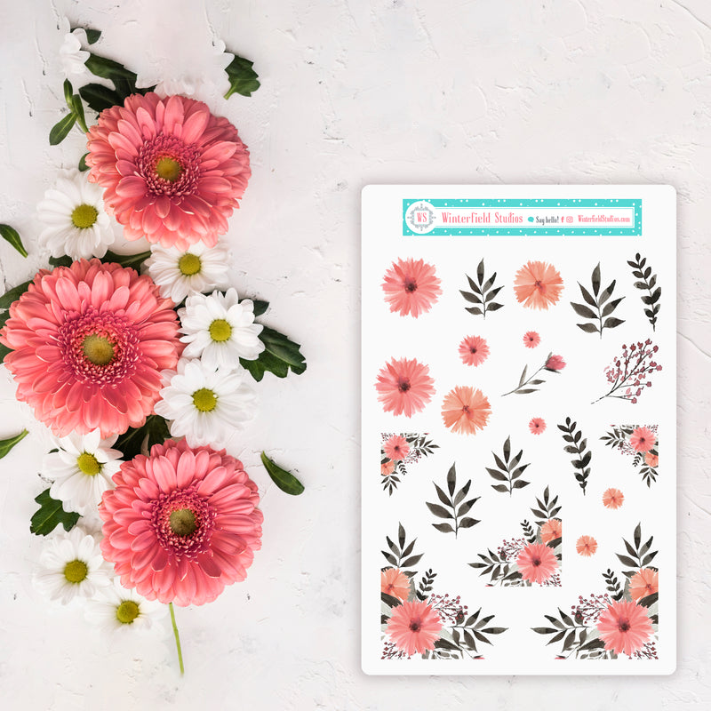 Rose Gold Geometric Full Box Stickers - Fits Kikki K B6 & Vertical Planners
