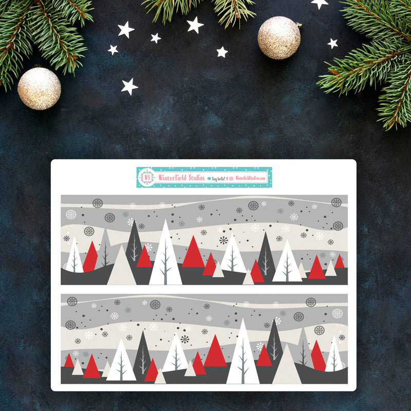 Snuggle Up Winter Mini Sticker Kit - Fits Vertical Planners