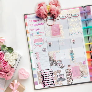 Bougie Full Box Collection - Underlay & Overlay Planner Stickers