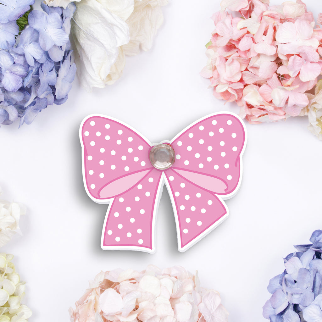 Pretty Bow Die Cut with Rhinestone - Decorative Fashion Bow Die Cuts For Planners