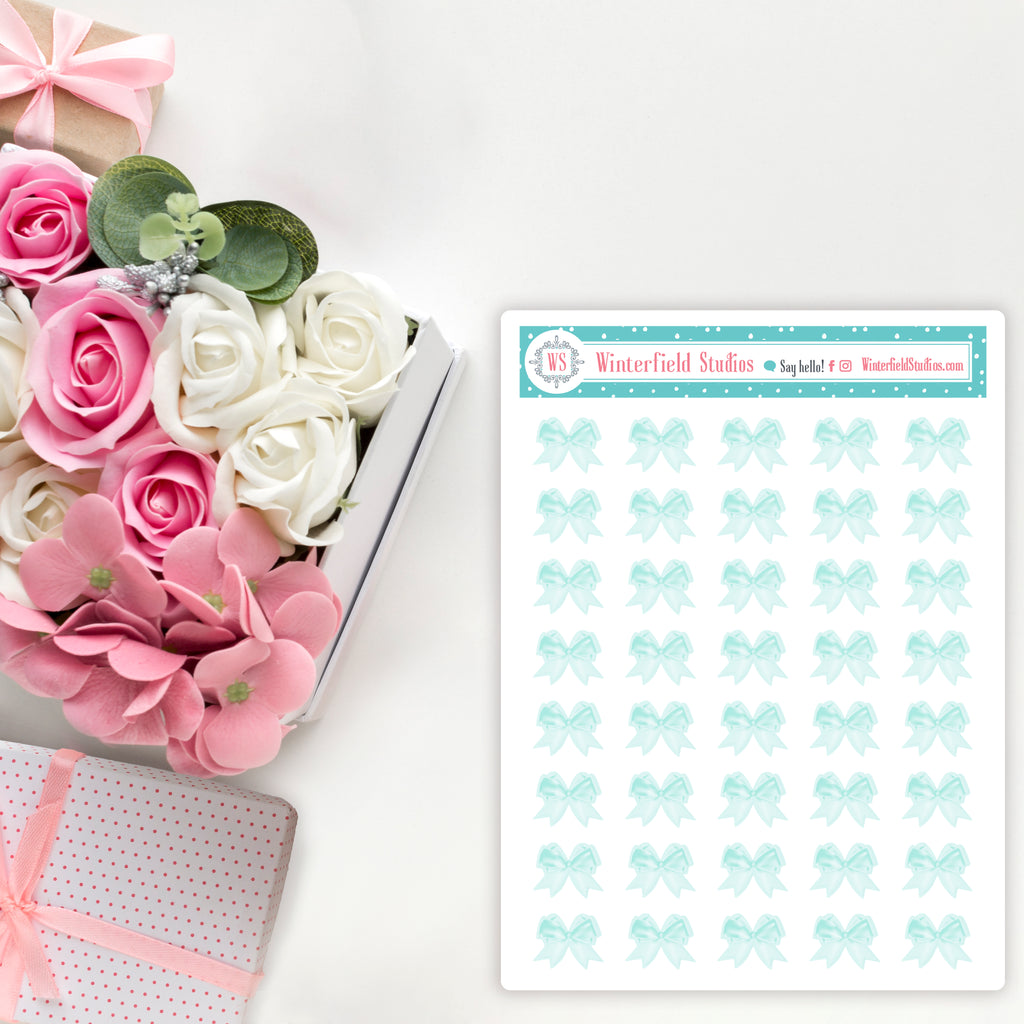 Bow Icons for the Spring Blooms Planner Sticker Kit - Fits All Planner Sizes