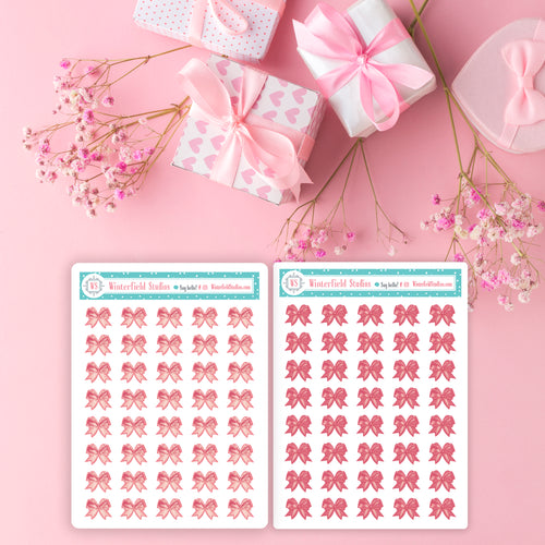 Bow Art Deco Icons for The Lady Luxury Planner Sticker Kit - Fits All Planner Sizes