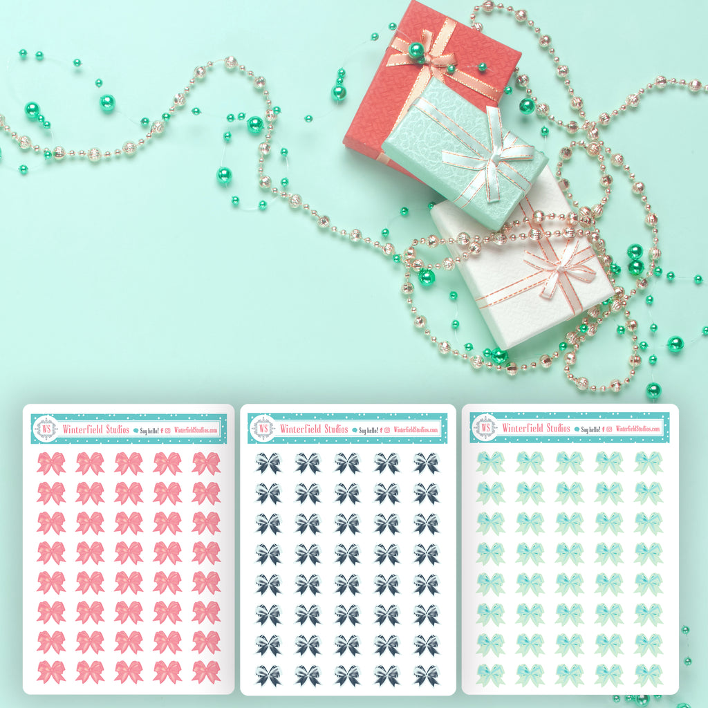 Bow Art Deco Icons for The Coral, Peach, & Mint Planner Sticker Kit - Fits All Planner Sizes