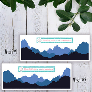 Mountain Washi & Tree Art Deco For Camping Under the Stars Sticker Kit