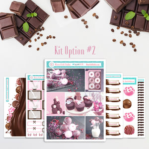 Chocolate Bomb Explosion Planner Sticker Kit - Scene Stickers - Fits Vertical Planners