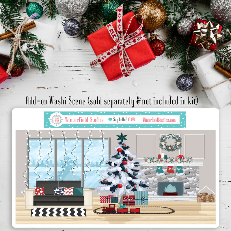 Christmas Cheer Planner Sticker Kit - Fits Vertical Planners