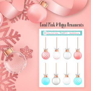 Christmas Ornament Art Deco Stickers - Holiday Stickers