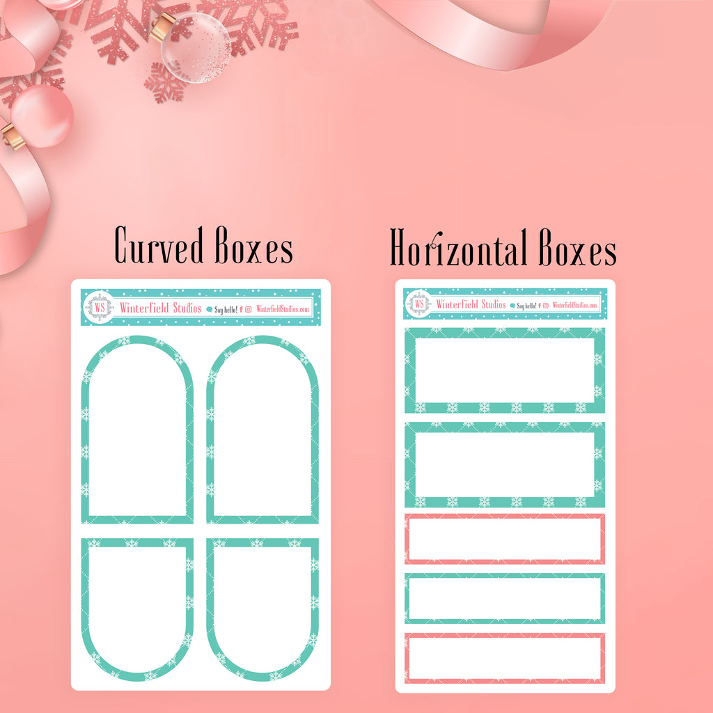 Coral & Mint Holiday Functional Sticker Kit - Winter Stickers