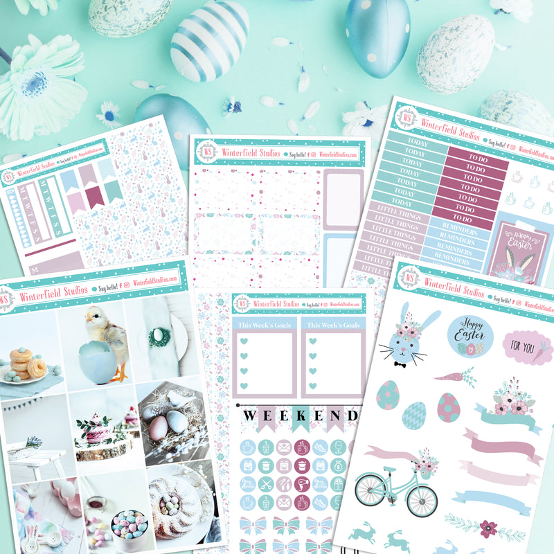 Easter Weekly Photo Sticker Kit - Fits Vertical Planners