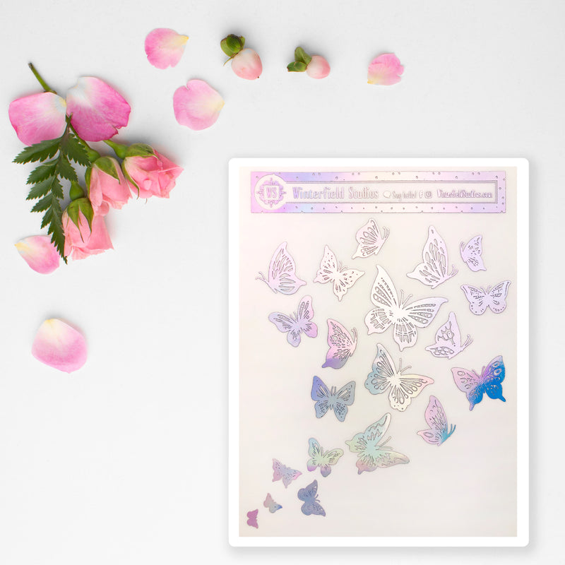 Foiled Cluster of Butterflies - Art Deco Planner Stickers