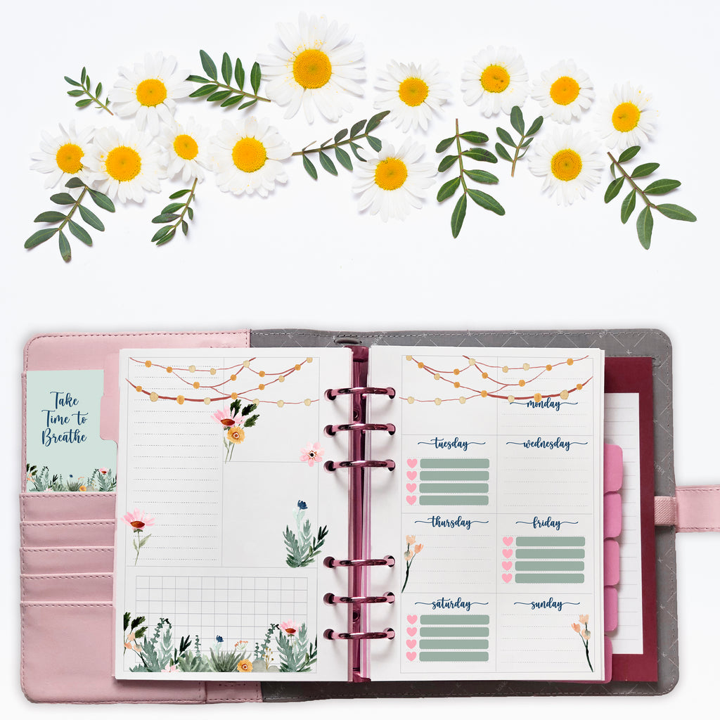 Garden Lights - Art Deco & Functional Stickers -  Fits Kikki K B6 Planners