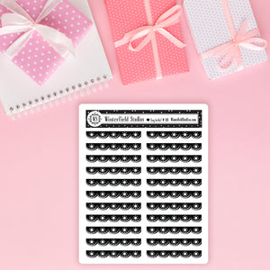 Foiled Scallop Headers Planner Stickers
