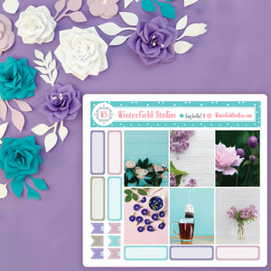 Lavender Fields Planner Stickers - Fits Vertical Planners