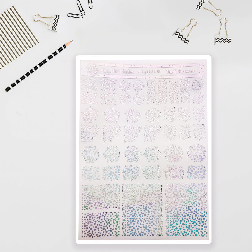 Foiled Layering Sticker Elements - Planner Stickers