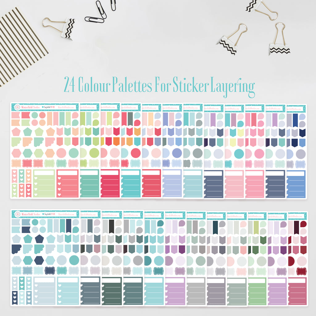 Layering Functional Collection - Planner Stickers