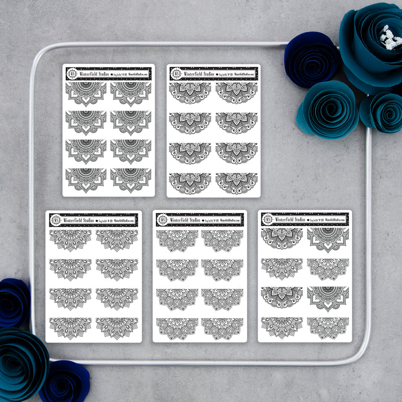 Foiled Mandala Planner Stickers
