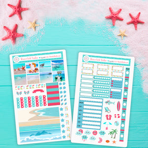 Paradise Island Hobonichi Weeks Planner Sticker Kit