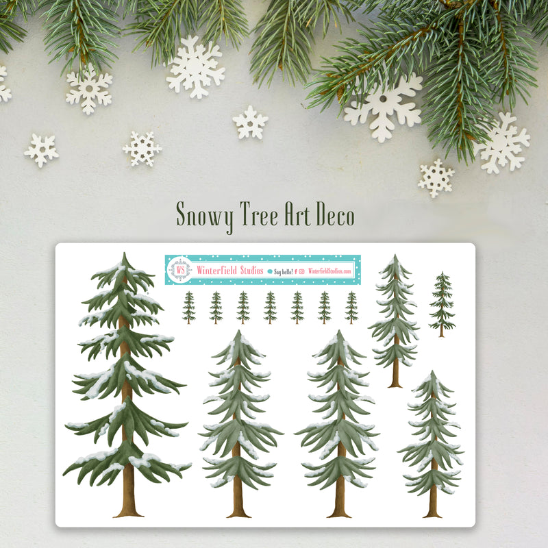 The Sleeping Forest Tree Art Deco & Functional Stickers