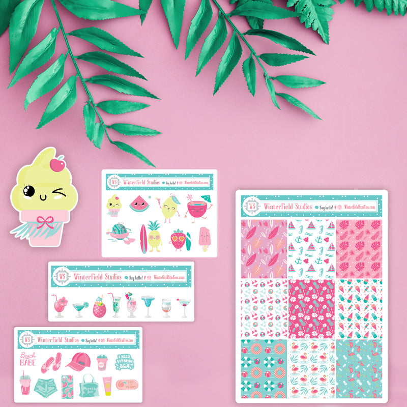 June Summer Planner Collab Sale Stickers & Die Cuts - Summer Stickers & Summer Die Cuts