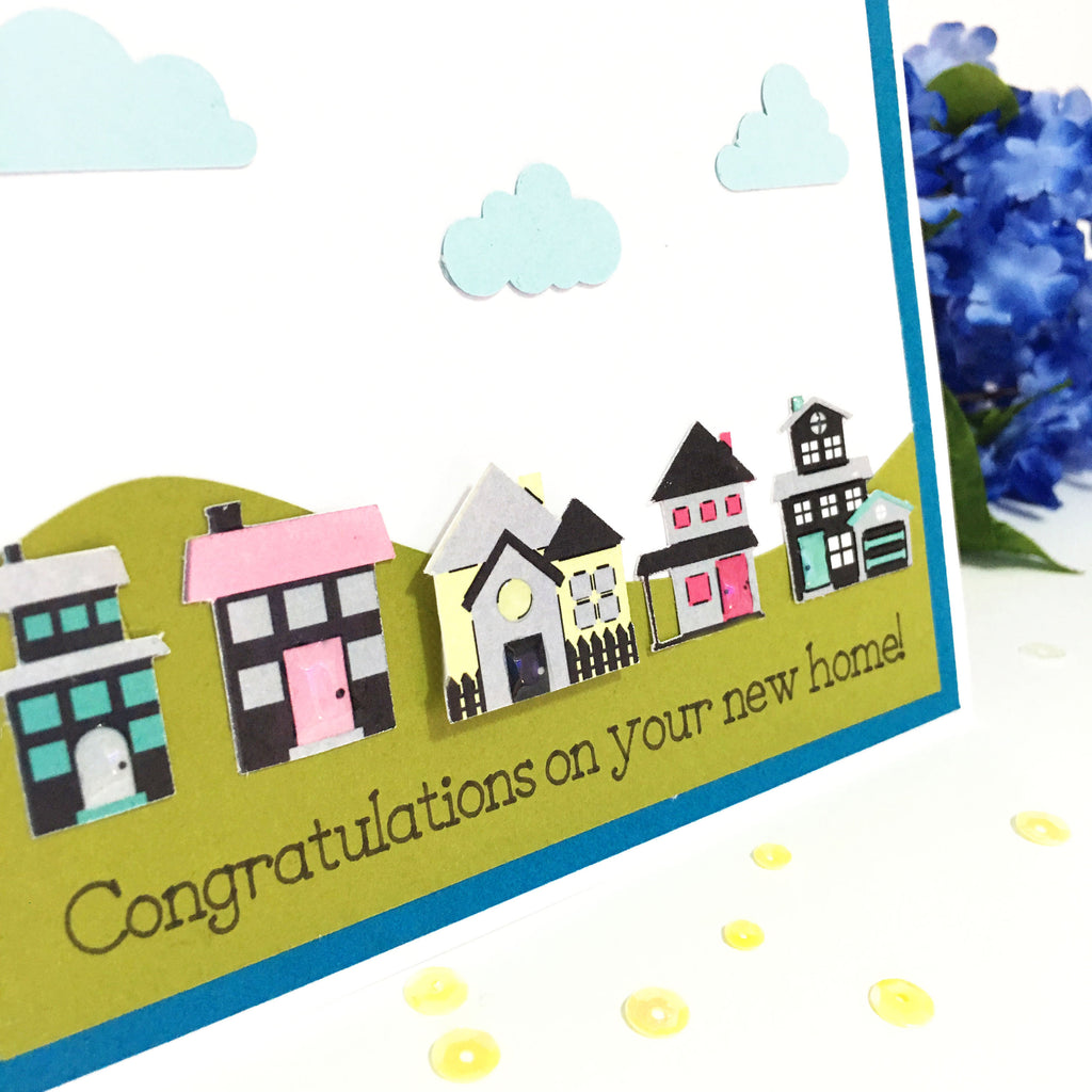 Congratulations On Your New Home Cards - Welcome to the Neighbourhood Greeting Card - Realtor Greeting Cards - Handmade